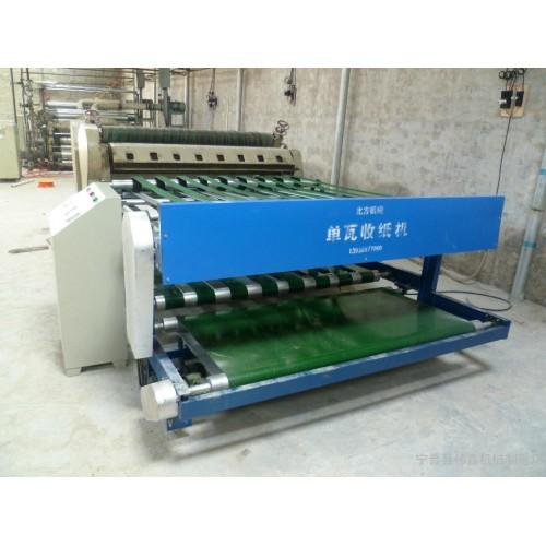 紙箱單瓦自動收紙機-- 寧晉縣偉鑫機械制造廠