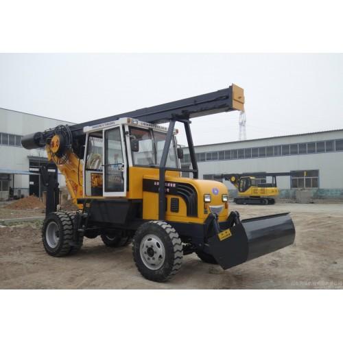 山东力强小型轮式旋挖钻机 打桩机 旋挖机年底促销中-- 山东力强机械有限责任公司