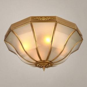 歐式吸頂燈全銅純銅酒店庭院客廳臥室