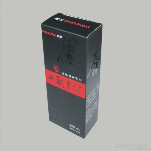 供应文龙高级书画专用墨汁No.7608的纸盒 包装盒 礼品盒  彩盒-- 苍南县构思纸塑制品厂