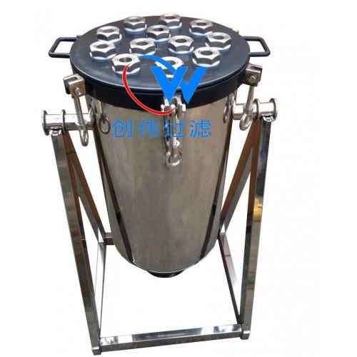 过滤设备批发药液脱碳、气体过滤器 多介质过滤器 涂氟钛棒过滤-- 海宁市盐官创伟过滤设备器材厂