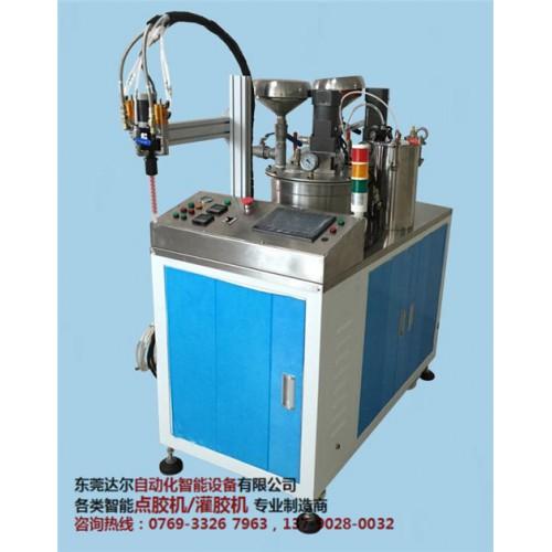 电源六轴双平台翻转点胶机DR-960采购 电源聚氨脂灌胶机供应商-- 东莞市达尔自动化设备有限公司