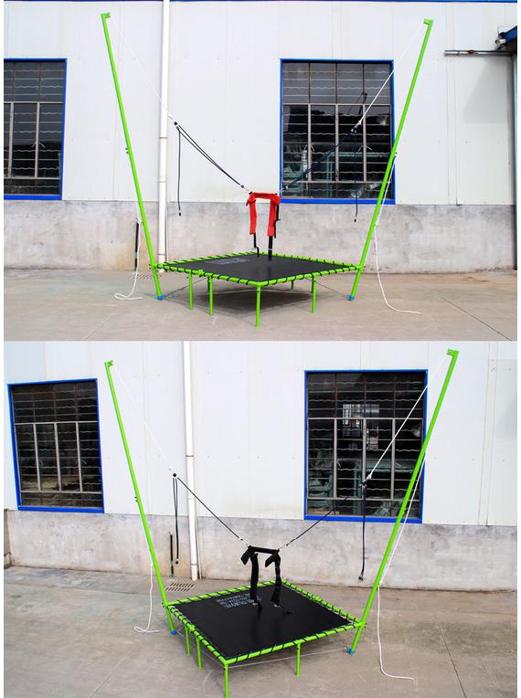 蹦极玩具占地面积  钢架蹦极儿童玩具 方形蹦极多少钱一台-- 郑州藏龙游乐设备有限公司