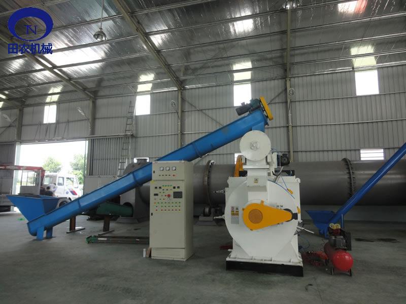 农作物秸秆颗粒机|田农机械时产6吨颗粒机生产线-- 济宁市田农机械有限公司