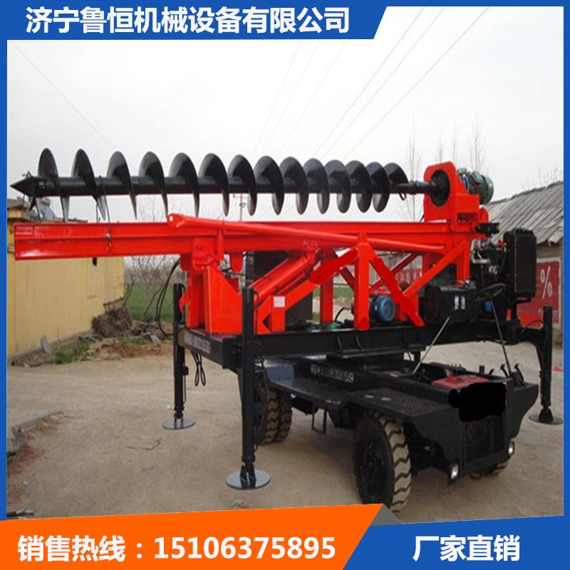 濟寧大孔徑360度旋轉螺旋鉆機魯恒螺旋打樁機熱銷中-- 濟寧魯恒機械設備有限公司