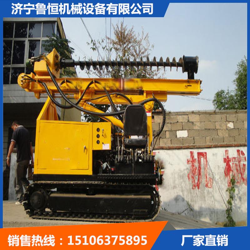濟寧大孔徑打樁機履帶式全液壓打樁機魯恒產品熱銷-- 濟寧魯恒機械設備有限公司