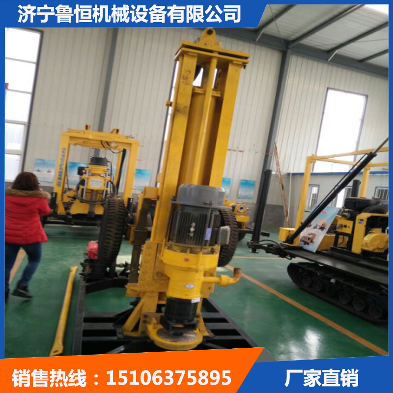 HQZ200自行式气动钻井机 气动打井机打岩石一小时25米-- 济宁鲁恒机械设备有限公司