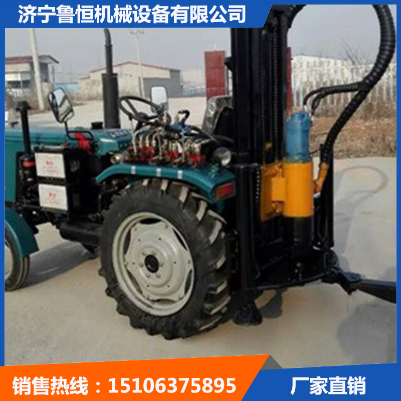 拖拉机式气动打井机 TQZ100拖拉机式打井机-- 济宁鲁恒机械设备有限公司