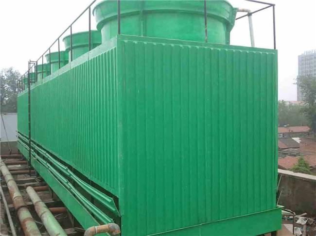 横流式方形玻璃钢冷却塔生产厂家 横流式方形玻璃钢冷却塔供应商-- 大有玻璃钢
