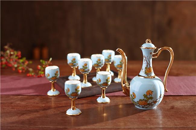景德镇陶瓷酒具套装定制厂家-- 北京景瓷文化发展有限公司(景德镇瓷器北京直营)
