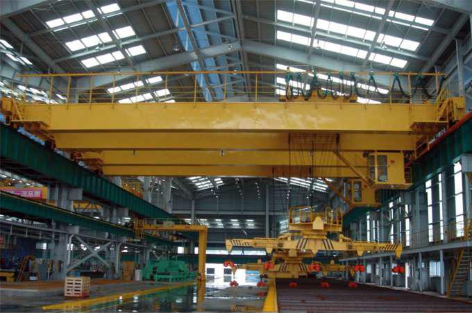 下旋转伸缩挂梁电磁桥式起重机-- 河南省矿山起重机有限公司
