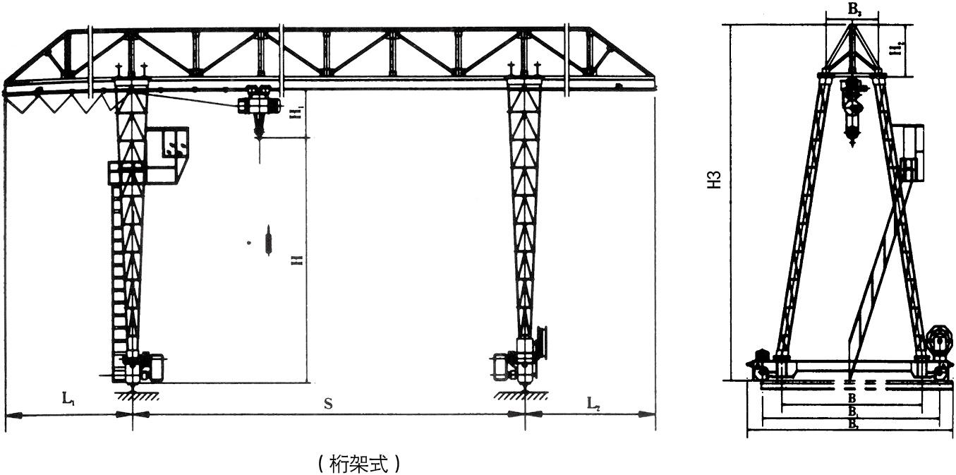 桁架式门式起重机-- 河南省矿山起重机有限公司