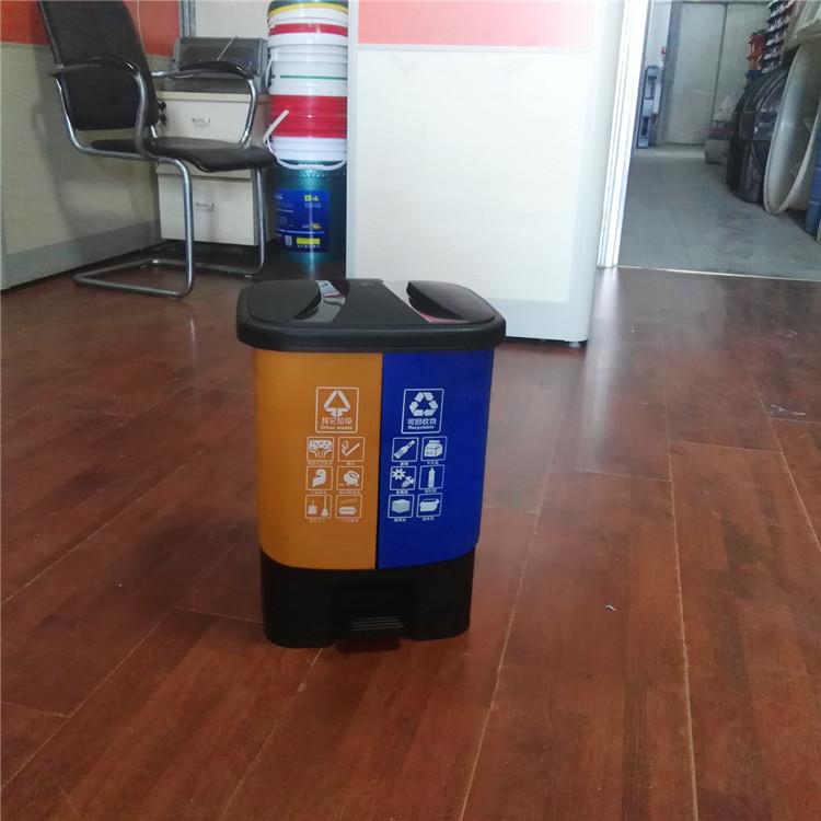 垃圾桶20升 双色-- 宿松县洲头乡金坝村日旺环卫制品经销处