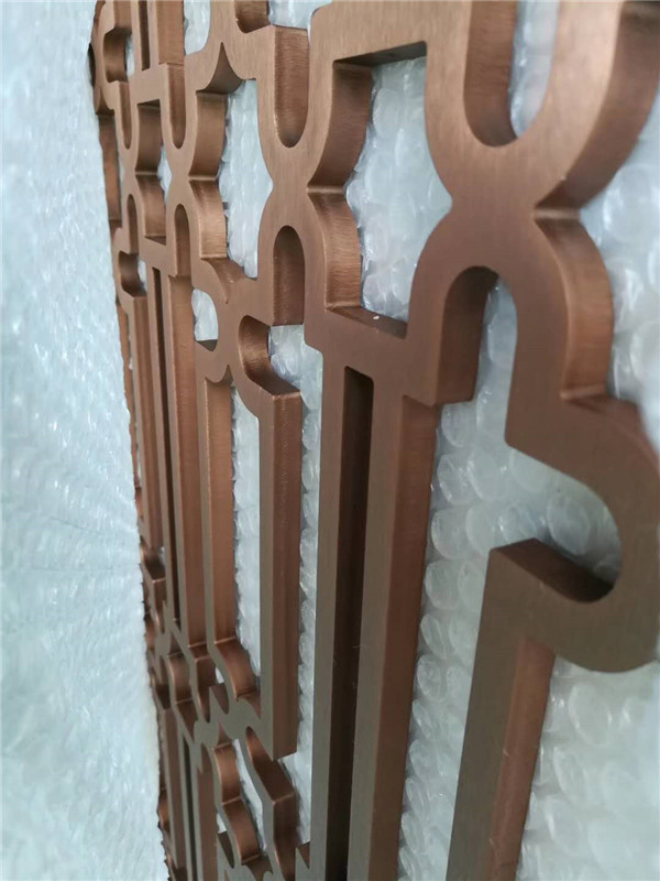 12厘玫瑰金屏风断面-- 佛山市御丰创展不锈钢材料有限公司