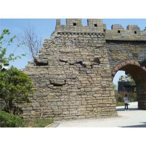 仿古砖块城墙